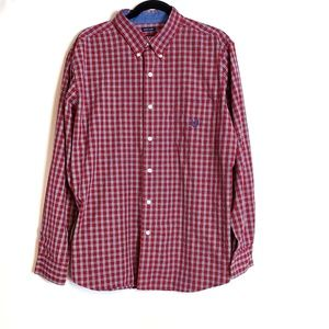 CHAPS Easy Care Plaid Button Down Shirt Size XL